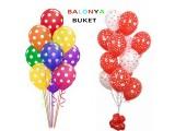 Uçan Buket Balon Kalpli
